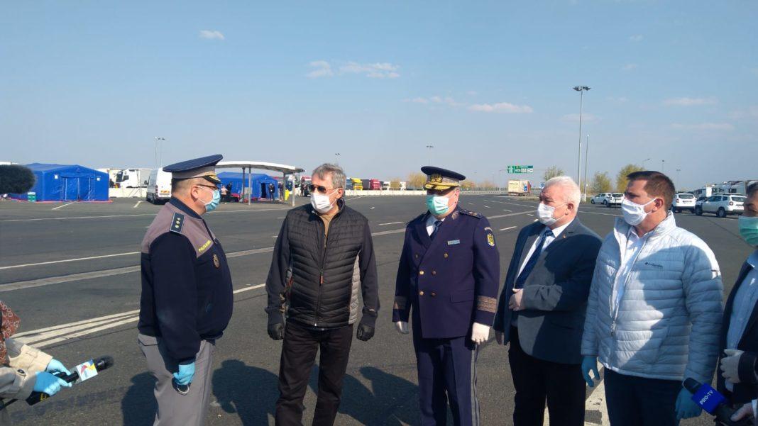 Marcel Vela a efectuat, astăzi, o vizită pe granița de vest, la punctele de trecere a frontierei Nădlac II și Nadlac I