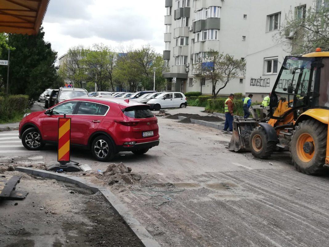 Au început lucrările de reabilitare a străzii Dealul Spirii, pornind de la intersecția cu Unirii