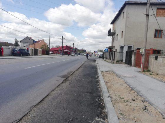 Strada Brestei a fost lățită, iar trotuarele refăcute. Lucrările încă nu s-au încheiat