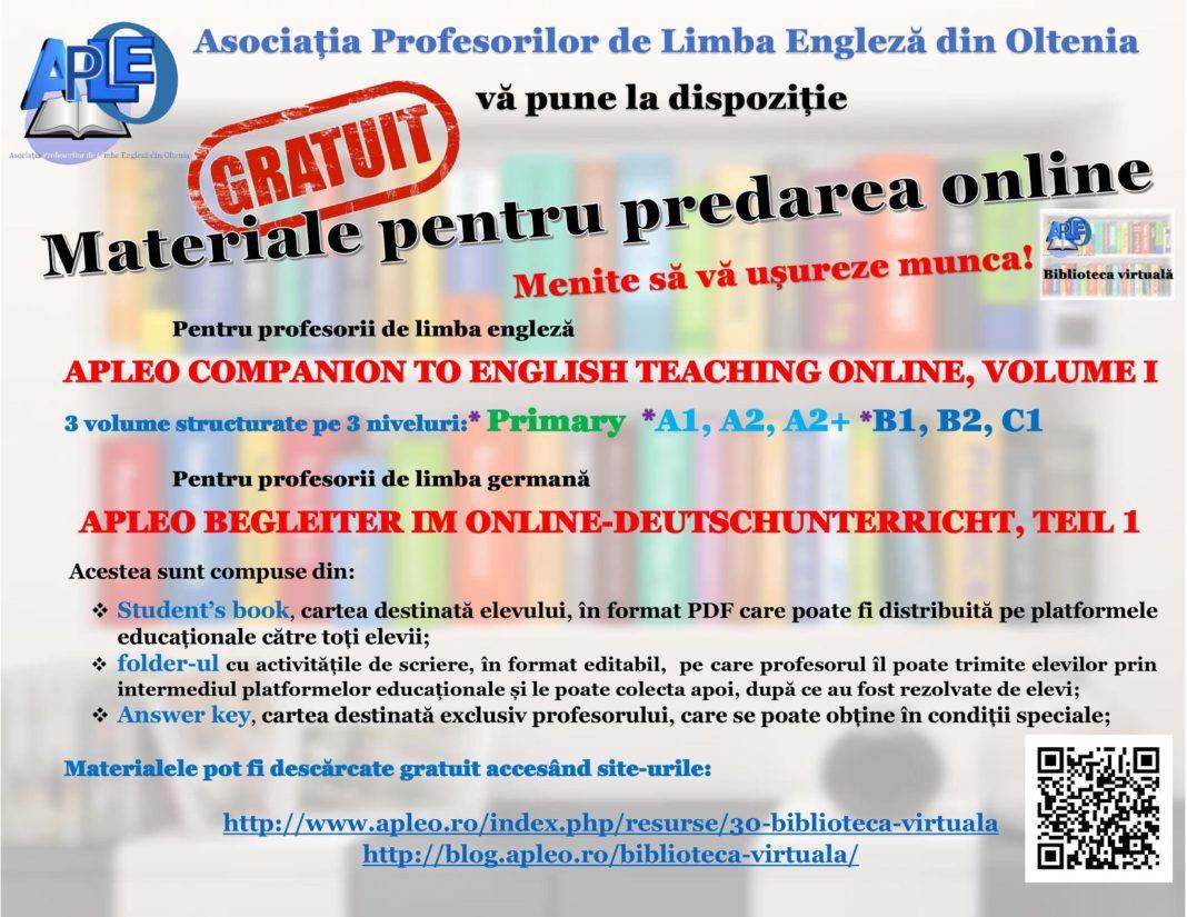 Materiale gratuite pentru predare on-line la engleză și germană