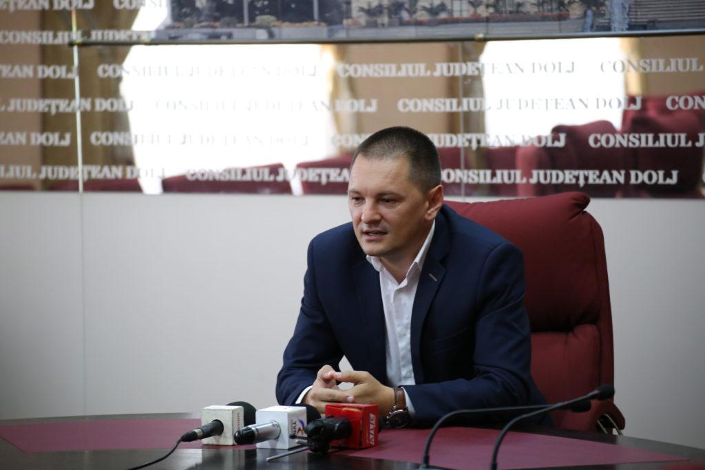 Cosmin Vasile, președintele ales al Consiliului Județean Dolj, mizează în continuare pe susținerea investițiilor private la Craiova