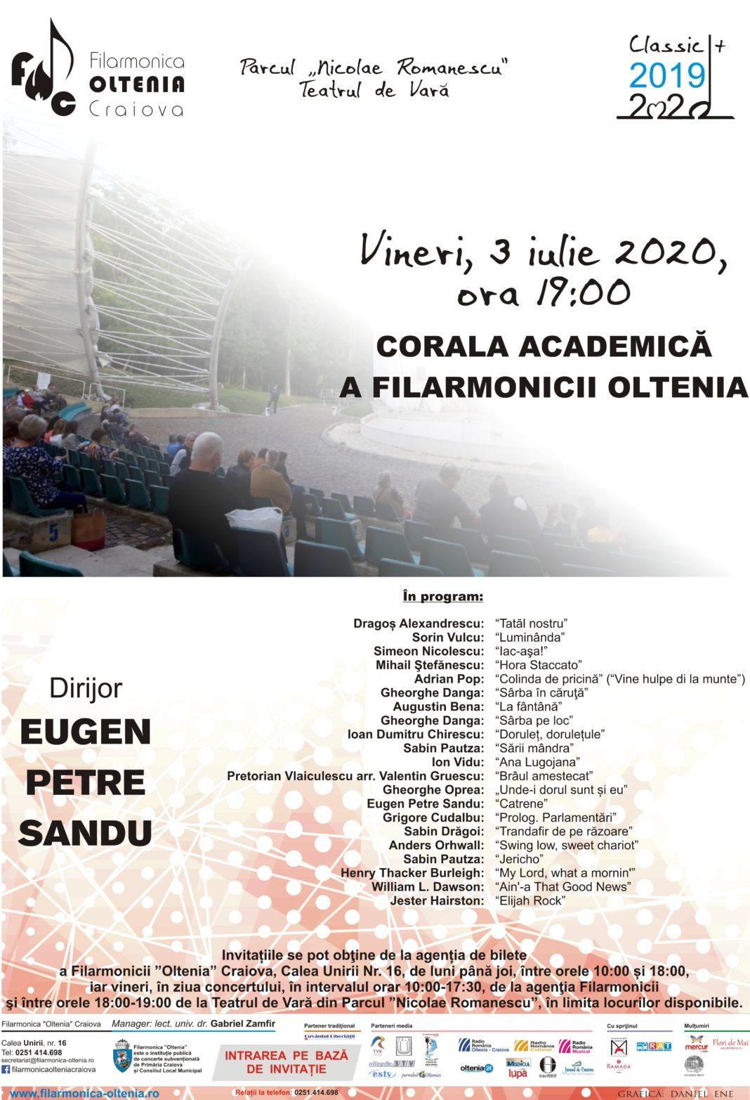 Concert coral la Teatrul de Vară din Parcul Romanescu