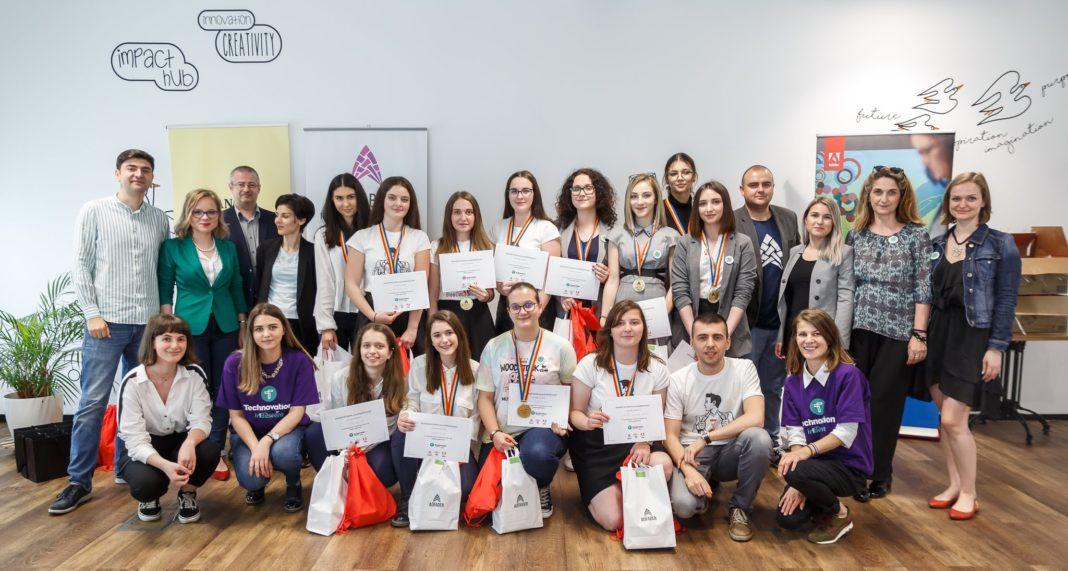 Technovation Girls: O echipă din România câștigă titlul de cea mai bună aplicație europeană Technovation Girls