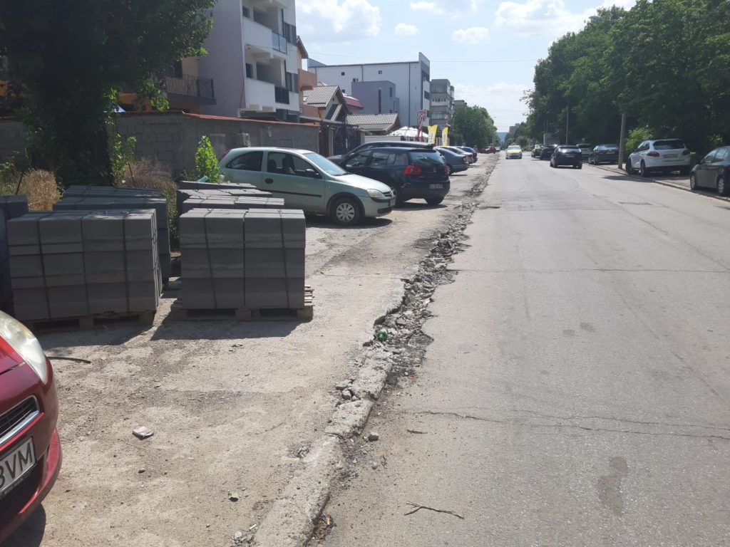 Strada Constantin Brâncoveanu din Craiova - în reparaţii, așa cum fusese lăsată în iulie
