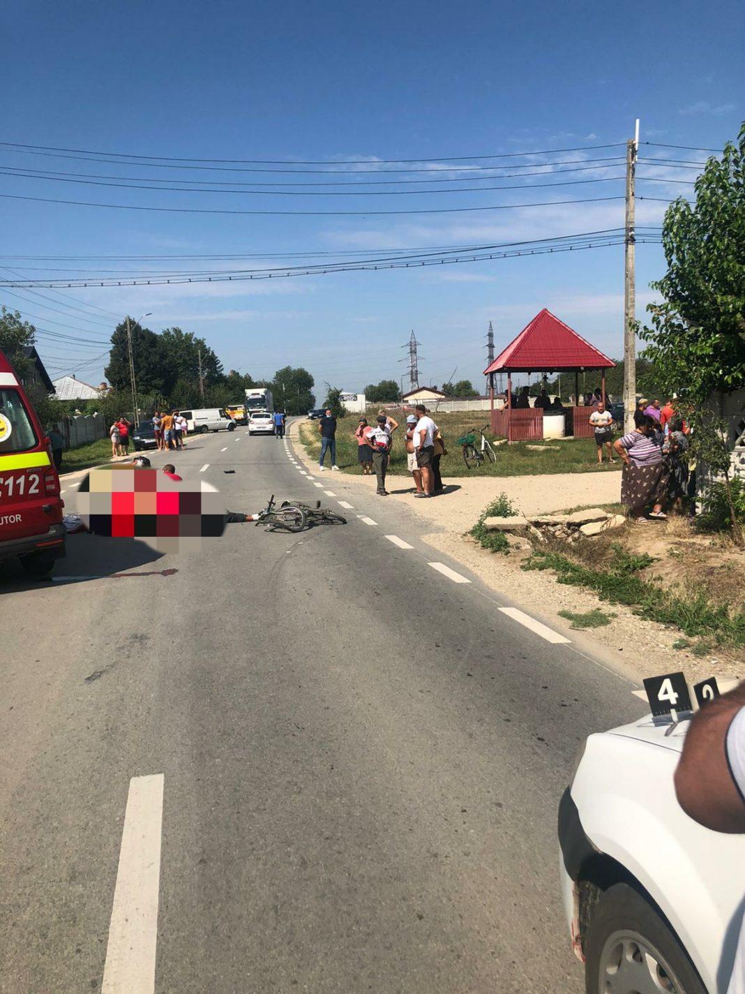 Un biciclist și-a pierdut viața pe DN 55A