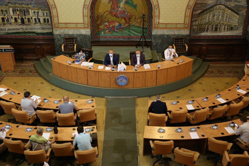 În şedinţa extraordinară de vineri a Consiliului Local Craiova au fost votate, în unanimitate, toate proiectele de hotărâre de pe ordinea de zi
