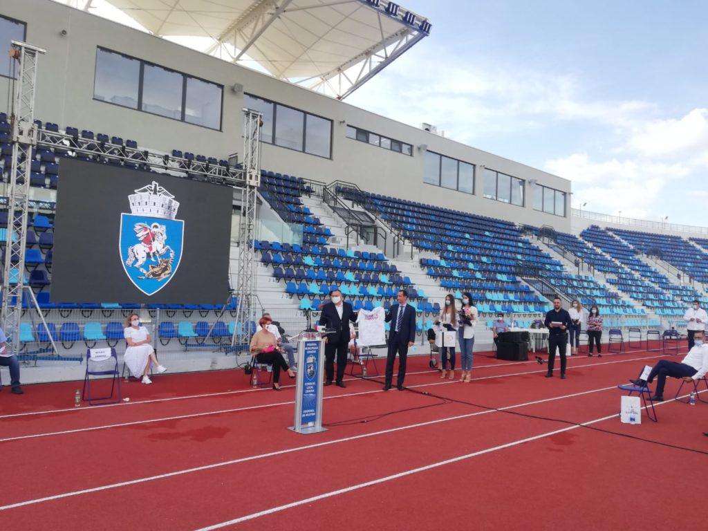 Inaugurarea electorală a stadionului de atletism din Craiova