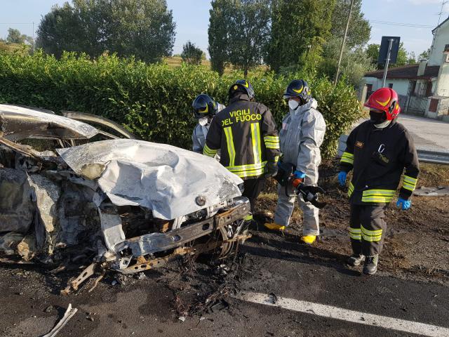 Românul conducea un BMW care a fost scos de pe șosea de un șofer neatent