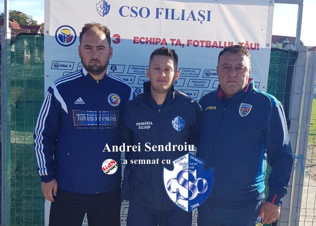 EXCLUSIV / Andrei Şendroiu a semnat pe un an cu CSO Filiaşi
