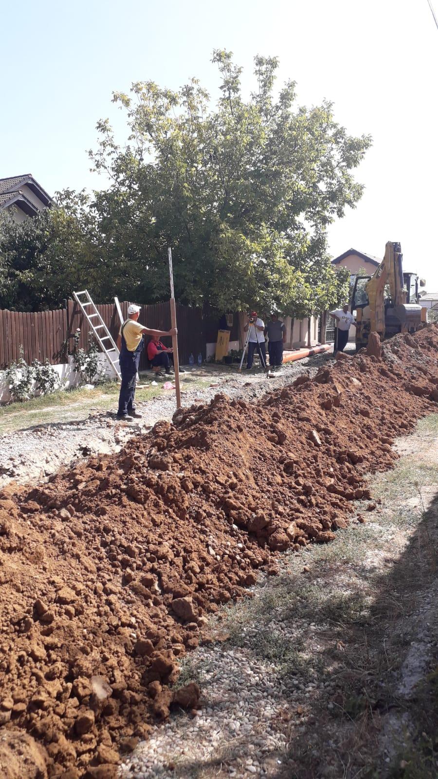 Astăzi a fost finalizată o lucrare în zona străzii Gârlești, din municipiul Craiova, care a vizat extinderea rețelei de canalizare