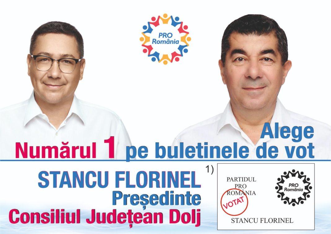 Scrisoare deschisă către doljeni a deputatului FLORINEL STANCU, candidatul PRO România la Președinția Consiliului Județean Dolj