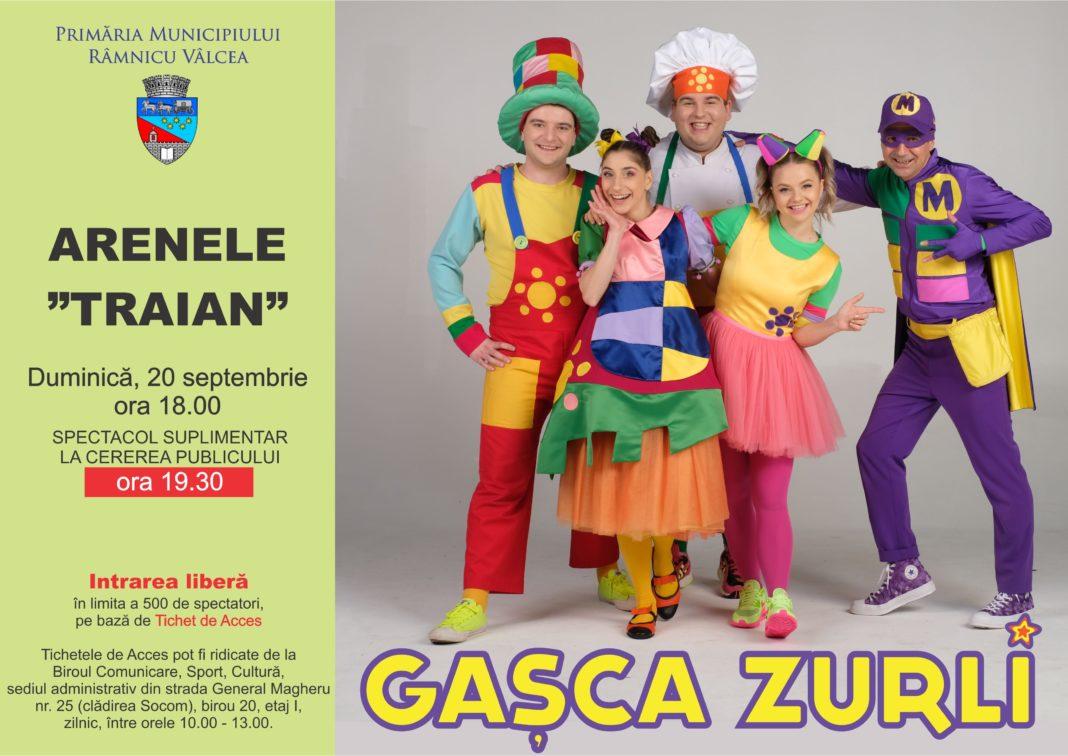 """Gaşca Zurli va mai susține duminică, 20 septembrie, la Arenele """"Traian"""", încă un spectacol pentru spectactatorii vâlceni"""