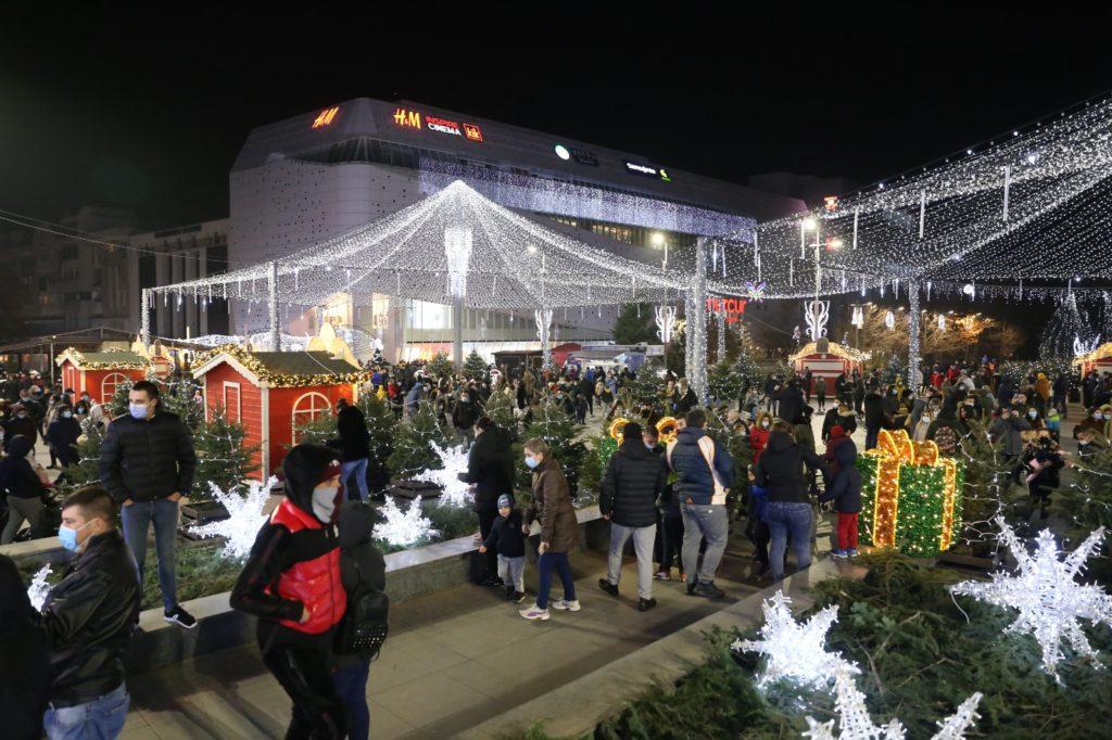 Târgul de Crăciun din Craiova, închis de DSV Dolj, pentru că nu are aviz de funcționare