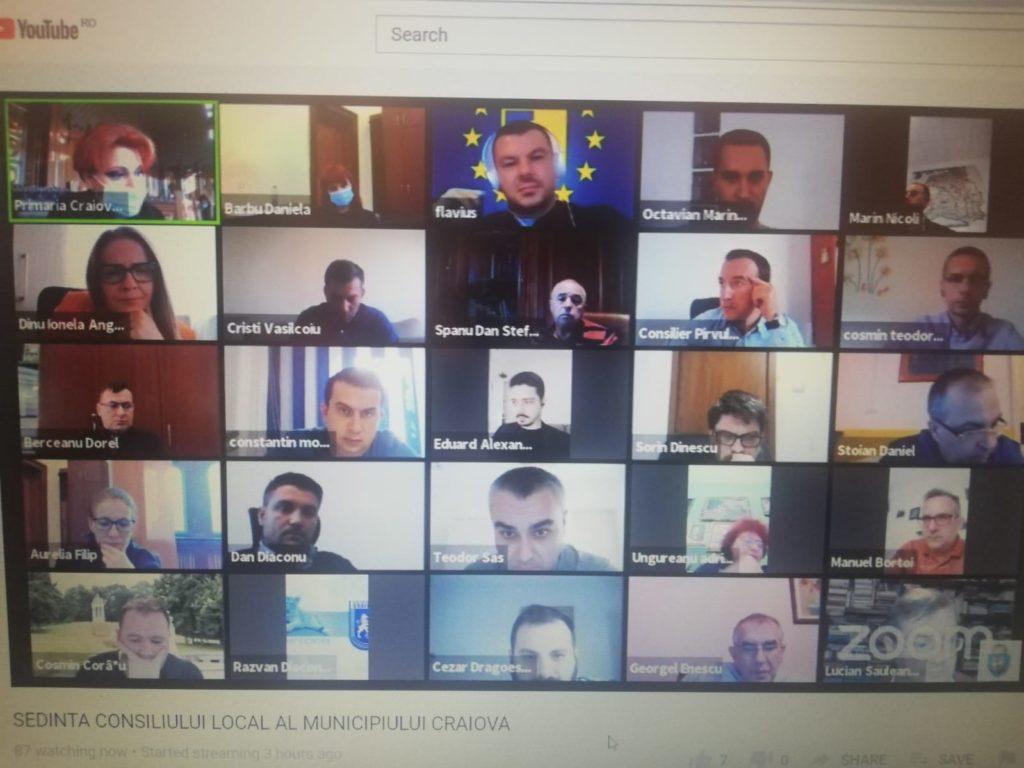 Consens PSD – PNL în CL Craiova! Proiectul de hotărâre privind noii indicatori tehnico-economici ai reabilitării Casei Rusănescu a picat la vot. Ședința s-a desfășurat online.