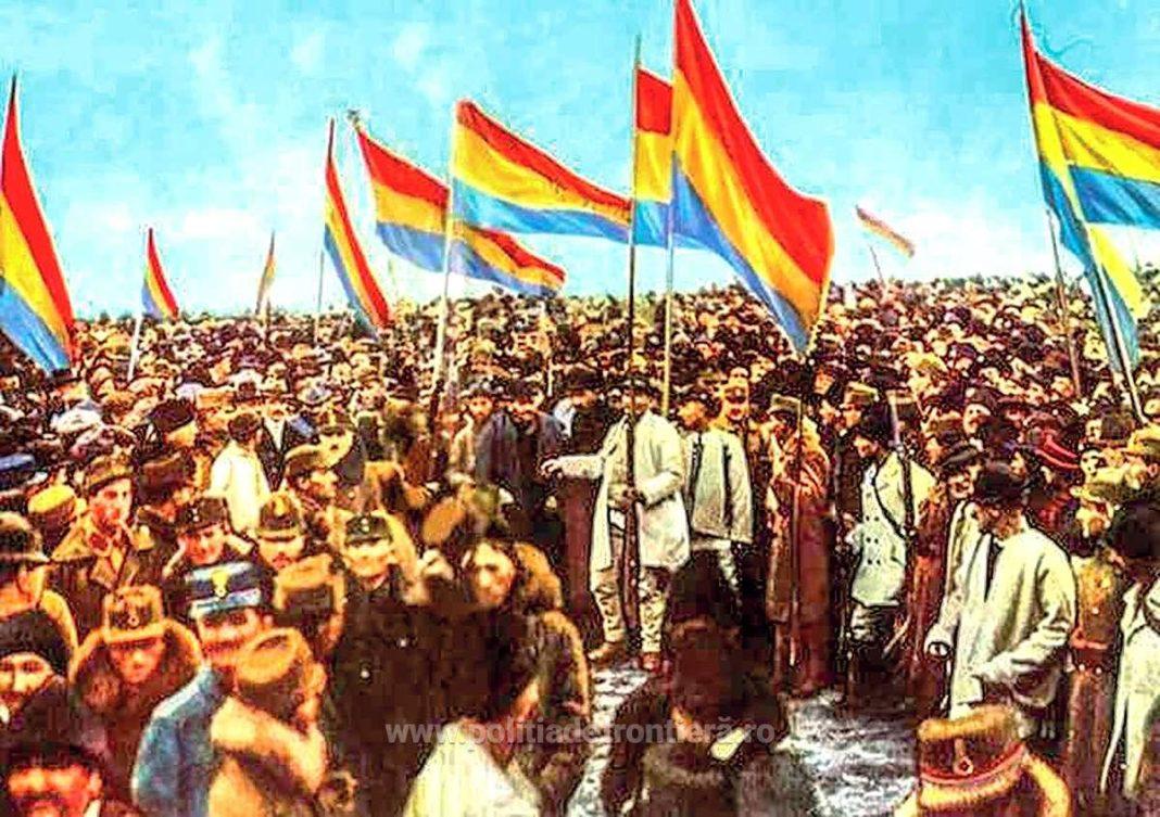 Marea Adunare de la Alba Iulia a votat unirea Transilvaniei cu România, în 1918.