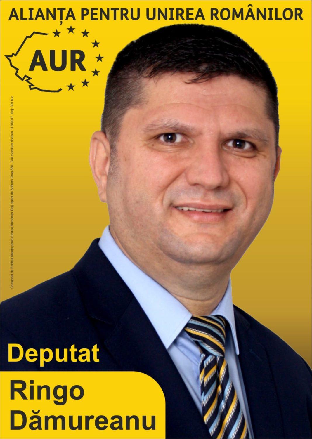 Ringo Dămureanu candidat pe lista Alianței pentru Unirea Românilor – Partidul AUR