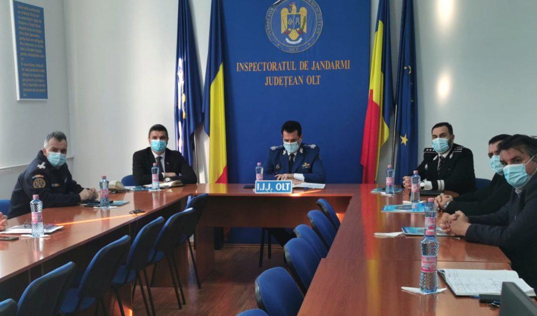 La sediul Inspectoratului de Jandarmi Judeţean Olt a avut loc astăzi evaluarea activităţii desfăşurate de inspectorat în anul 2020