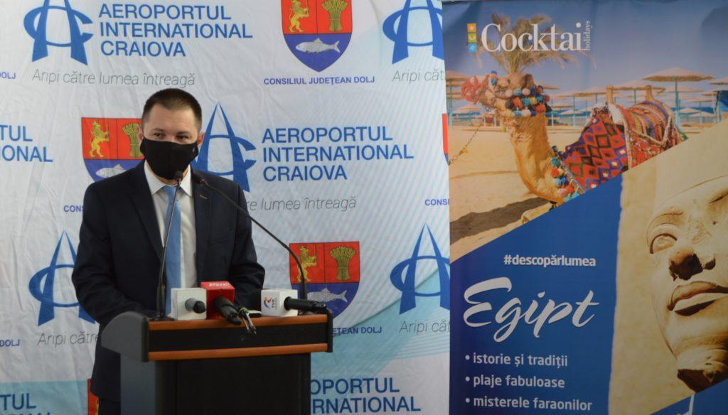 Cosmin Vasile, președintele Consiliului Județean Dolj, a detaliat proiectele care vor aduce Aeroportul Internațional Craiova în topul aeroporturilor din țară