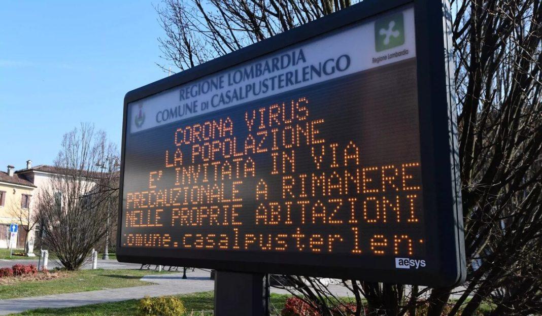 Regiunea italiană Lombardia, declarată