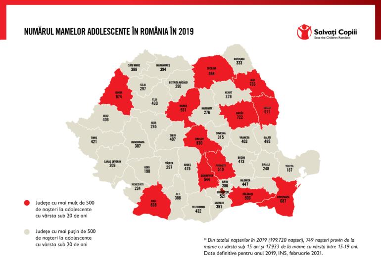 Doljul pe harta mamelor minore din România