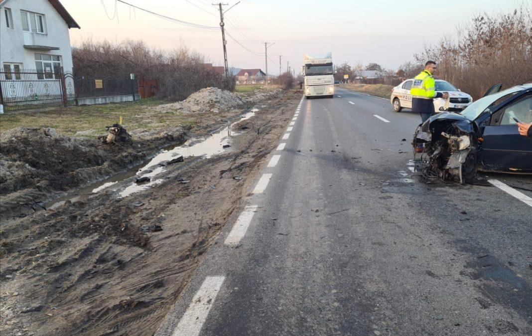 Accident în comuna vâlceană Orlești