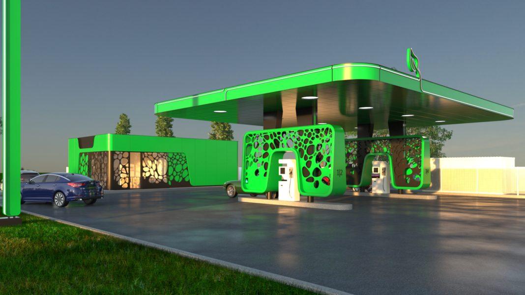 Pe Calea Severinului, spre ieșirea din Craiova, primăria vrea să fie construită o staţie de gaz natural comprimat pentru vehicule. Autoritatea locală a pus la dispoziție un teren de 1.499 mp, în vederea concesionării lui pe o perioadă de zece ani, şi a stabilit prețul de pornire al negocierii redevenţei anuale. Așa arată o stație de gaz natural comprimat (Foto: cngromania.eu).
