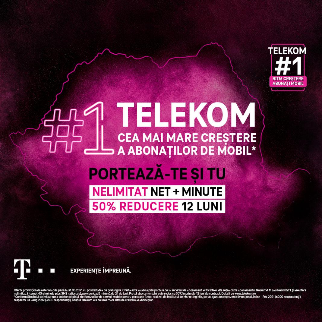 Reduceri promoționale la principalele produse și servicii Telekom Romania, grupul de companii cu cel mai mare ritm de creștere al abonaților de mobil