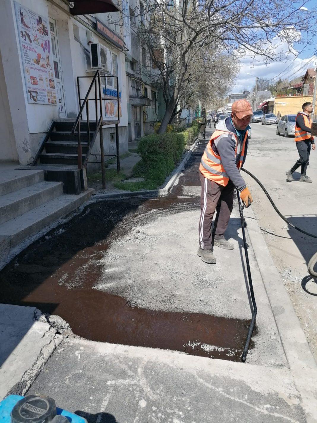 Lucrări pe strada Petre Ispirescu