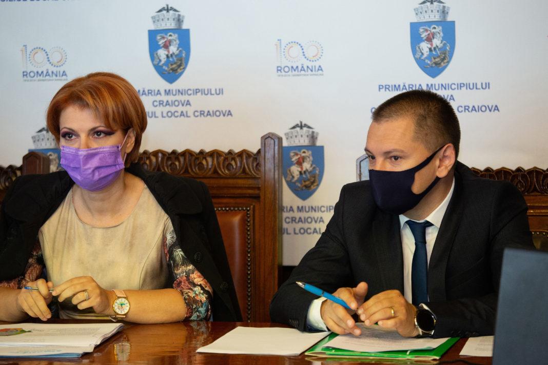 Lia Olguța Vasilescu, Primarul Municipiului Craiova, împreună cu Cosmin Vasile, Președintele Consiliului Județean Dolj