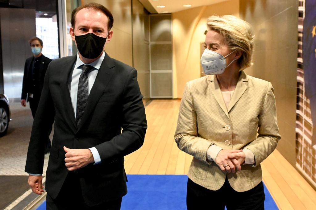 Premierul Florin Cîțu a avut o întrevederecu președintele Comisiei Europene, Ursula von der Leyen