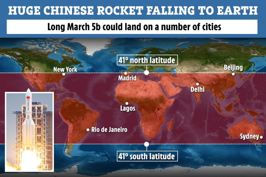 Bucăți dintr-o rachetă trimisă în spațiu de China ar urma să cadă pe Terra, în weekend, dar nimeni nu știe unde