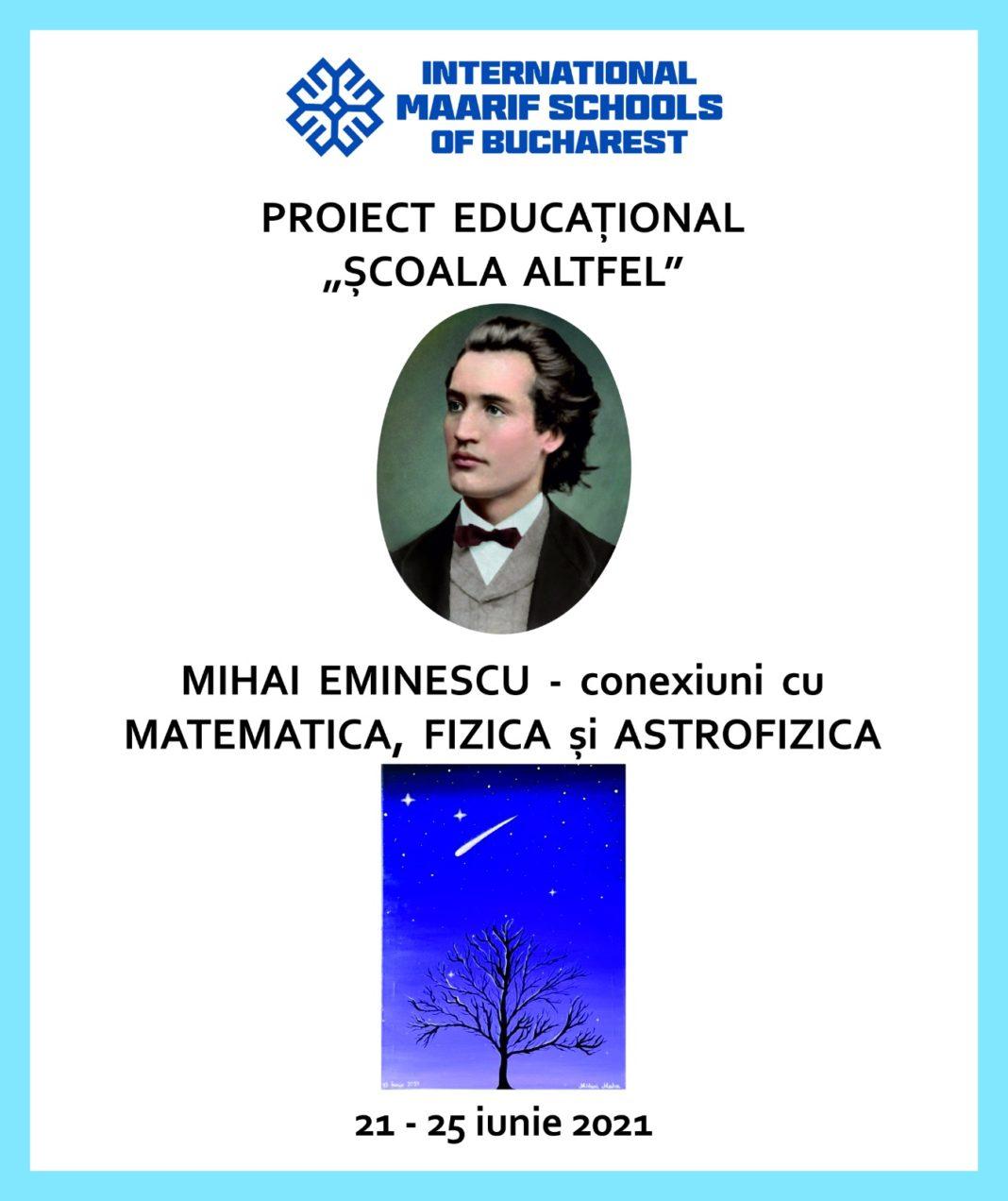 Mihai Eminescu – conexiuni cu Matematica, Fizica și Astrofizica