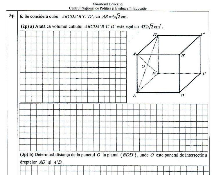 Ce subiecte au picat la proba de matematică de la evaluarea naţională