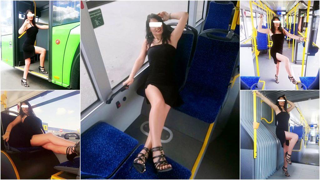 Şedinţă foto sexy în autobuzul RAT Craiova
