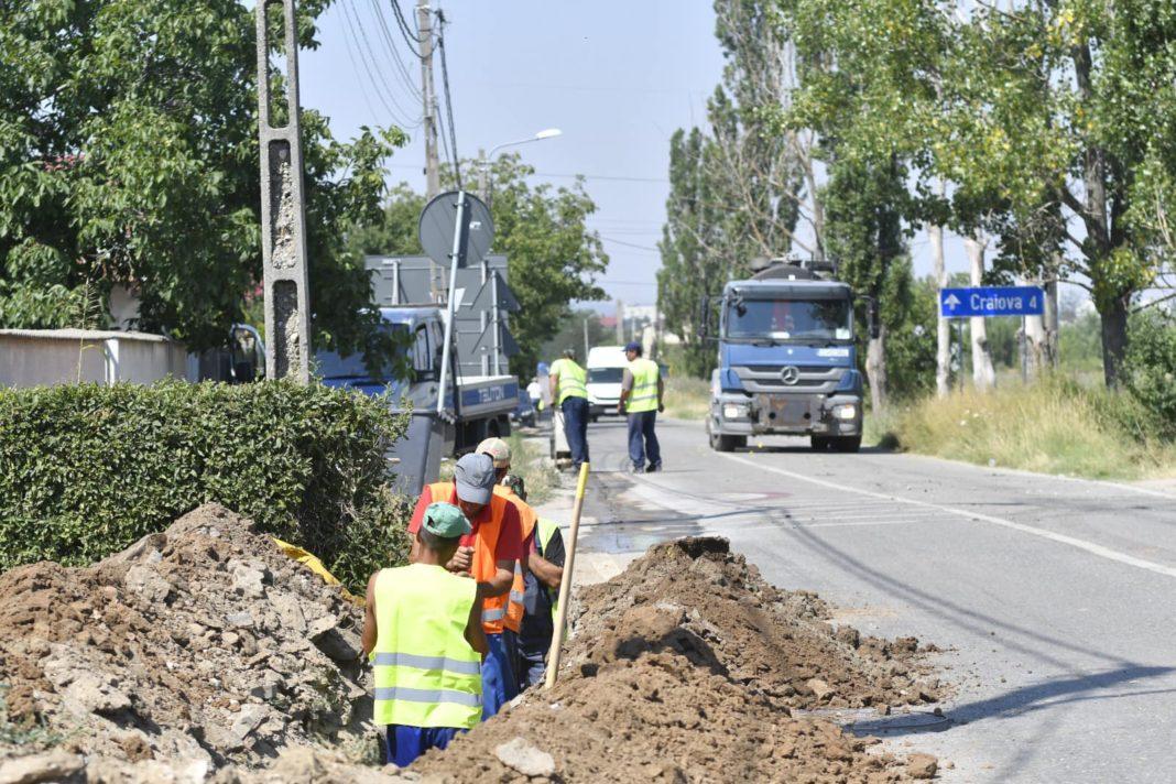 A intrat în lucru strada Teilor din Craiova. Artera va trebui modernizată pentru că face legătura cu Centura de Nord şi cu viitorul drum expres Craiova - Piteşti.