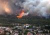 Incendiul de la periferia Atenei a pus pe fugă mii de oameni